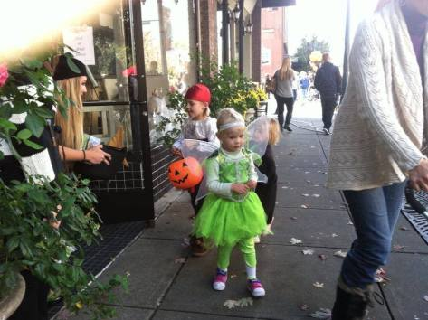 gathering treats from downtown merchants