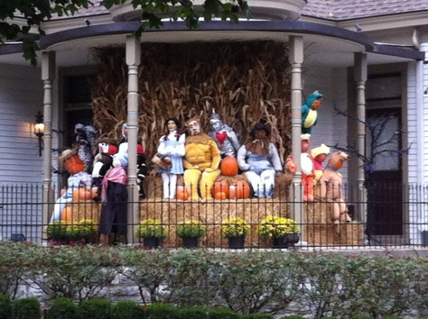 a porch full of costumes