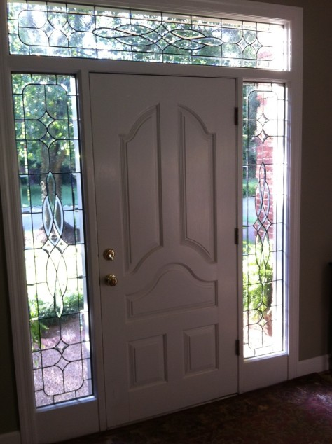leaded glass door surround