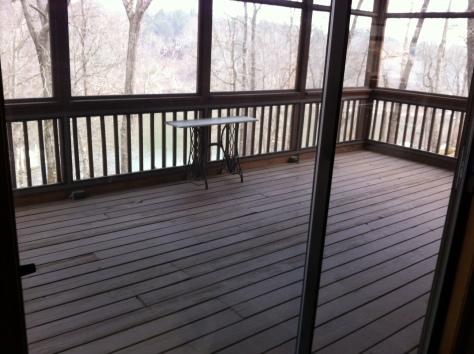 empty porch